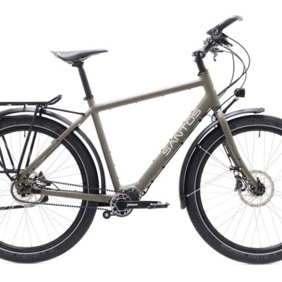 Travelmaster 3+ Santos earth grey met Pinion, Beagle Bikes