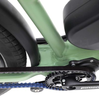 Pinion versnellingsbak in de Santos powerserie fietsen.