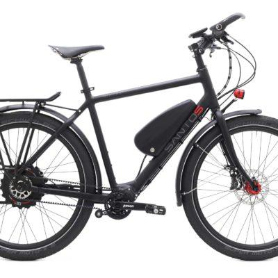 Travellite+ ebike heren zwart rood santos beagle bikes
