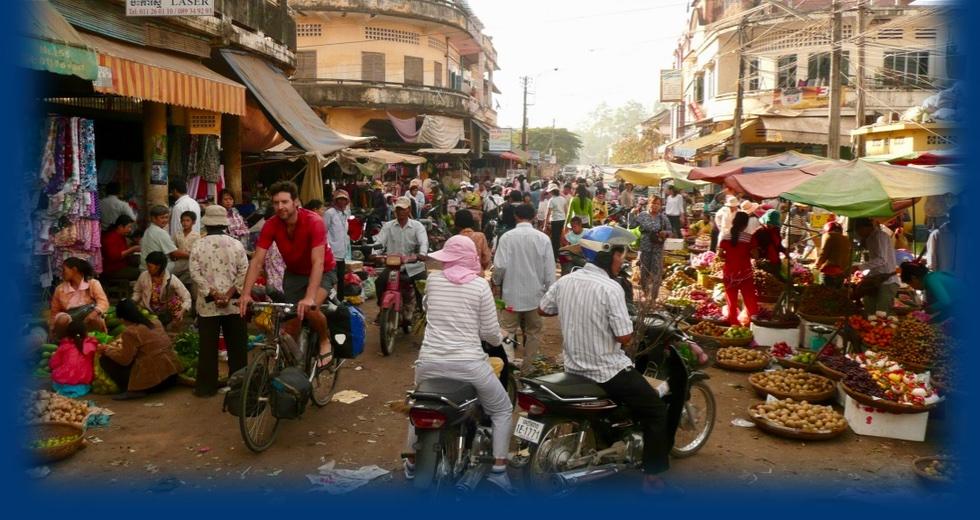 Johan in India op de fiets