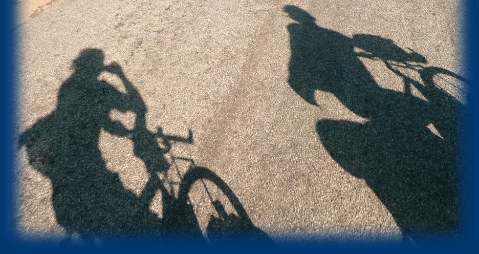 Marijke en Johan op de fiets
