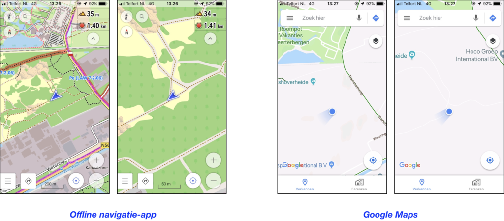 Google Maps versus OsmAnd