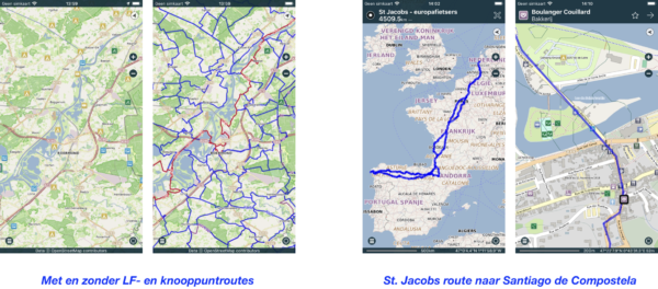 Routes & Tracks in navigatie-app