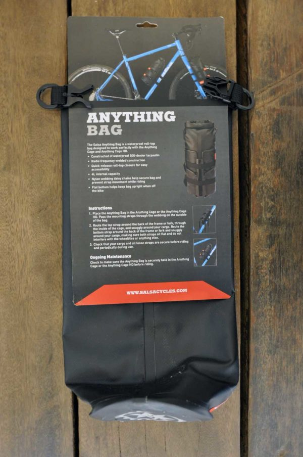 Salsa Anything cage, bikepacking tas