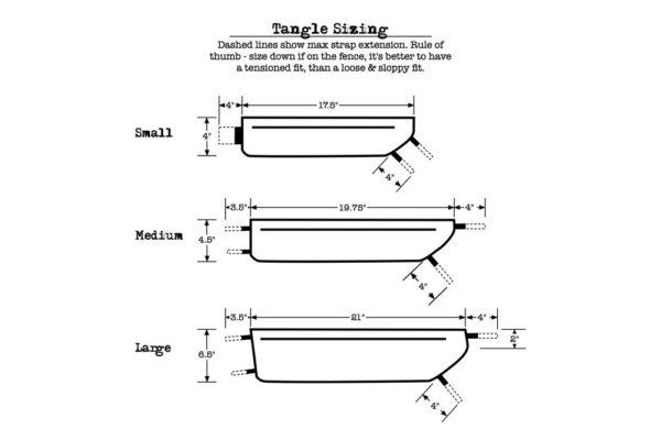 Tangle Revelate Designs frame tas