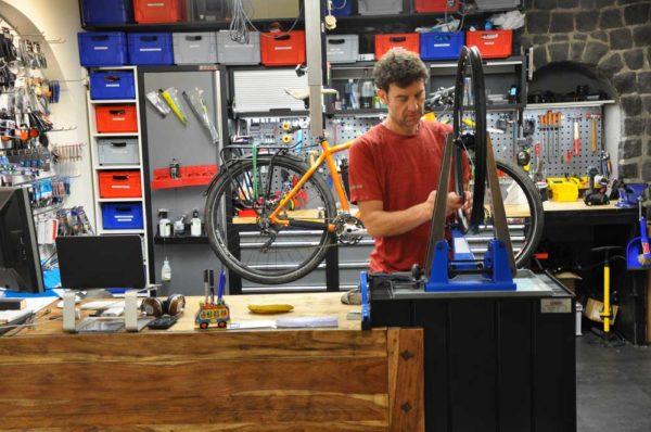 Werkplaats fiets reparatie