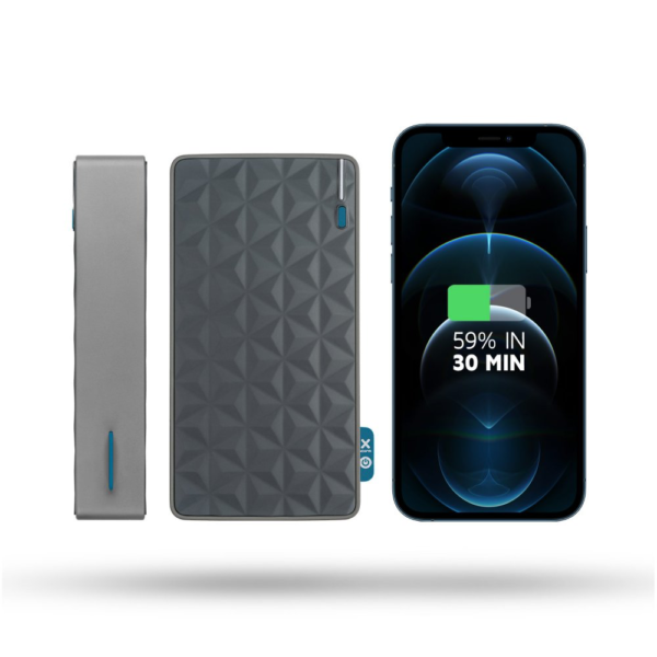 Xtorm powerbank 20000mAh en smartphone iPhone