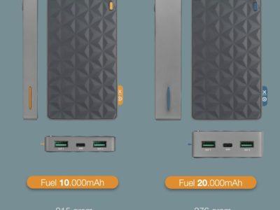 Xtorm powerbank 10000mAh en 20000mAh afmetingen en gewicht
